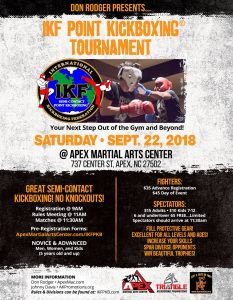 IKF Kickboxing Tournament Apex Martial Arts Center