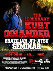Kurt Osiander BJJ Seminar Flyer