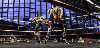 competitive kickboxing class